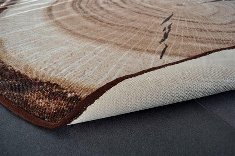 design teppich rund holz baumstamm 200cm baumscheibe hr 2