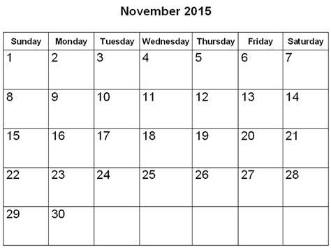 Printable Calendar Template November 2015 November 2015 Printable Calendar Gameshacksfree