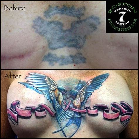tattoo scar cover ups mastectomy scar cover up by boston rogoz tattoos