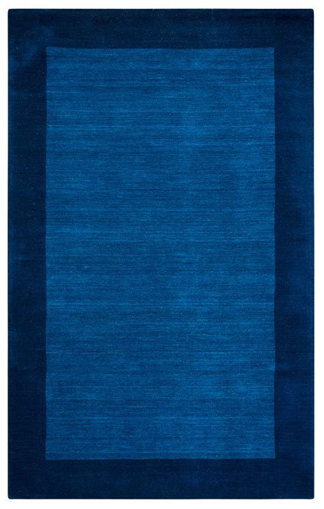 navy border rug platoon faded border wool area rug in blue navy 3 x 5