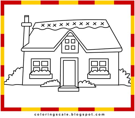 cottage house coloring pages coloring pages printable for kids cottage coloring pages