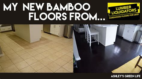 Ashley's Green Life: My New Dark Bamboo Floors from Lumber