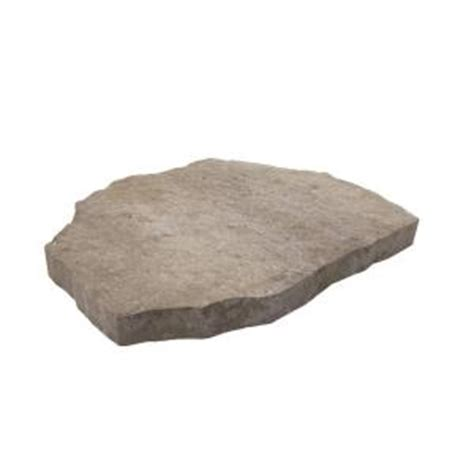 decorative stepping stones home depot oldcastle epic stone 18 in x 24 in pewter concrete step