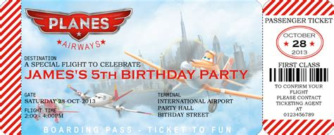 disney planes printable birthday invitations disney planes boarding pass invitation and similar items