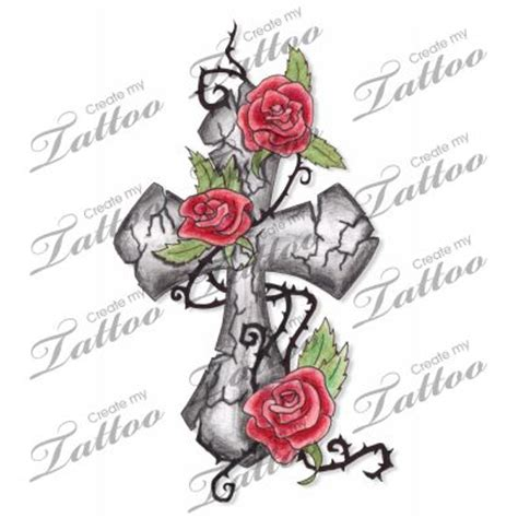 climbing rose tattoo marketplace cracked cross climbing roses