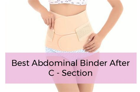 best postpartum girdle abdominal binder after section