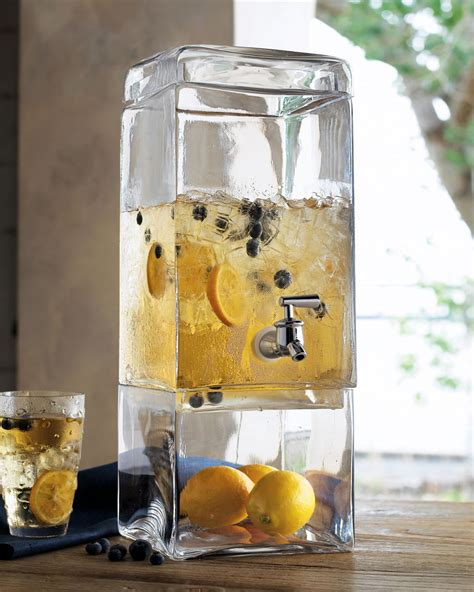 cheers to these chic clear drink dispensers kitchen