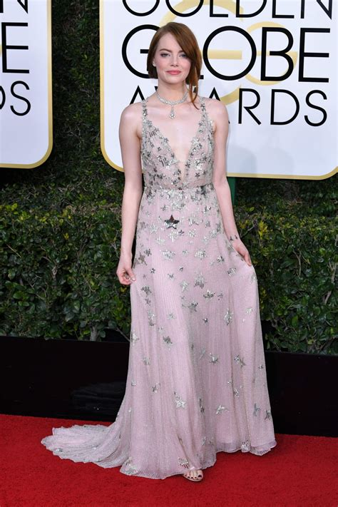 Emma Stone Golden Globes | emma stone golden globe awards in beverly hills 01 08 2017