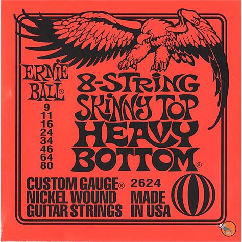 Terbatas Senar Ernie Slinky Top Heavy Bottom Original Usa ernie 2624 8 string top heavy bottom electric guitar strings 9 80 ebay