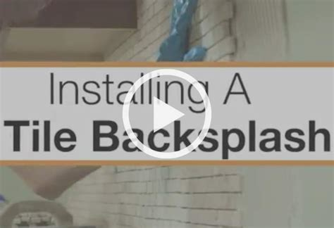 how to install tile backsplash in kitchen how to install a kitchen backsplash at the home depot