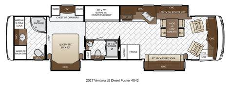 newmar floor plans new 2017 newmar ventana le 4042 class a motorhome diesel