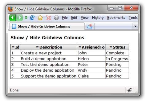 header template asp net gridview show hide gridview columns in asp net hjr358551886的日志