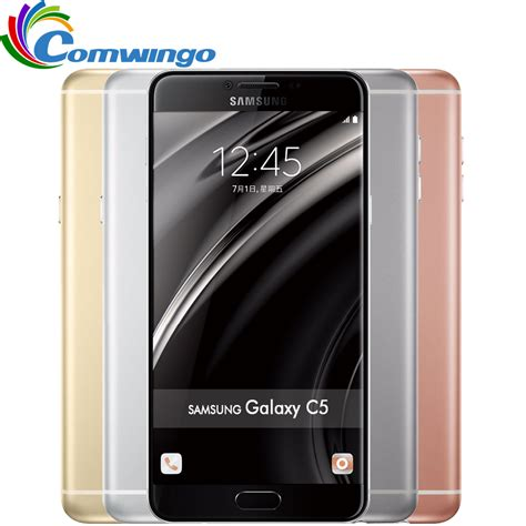 Samsung Galaxy C7 Ram 4gb Rom 32gb Dual Sim New Bnib Original 10 original unlocked samsung galaxy c5 mobile phone 5 2