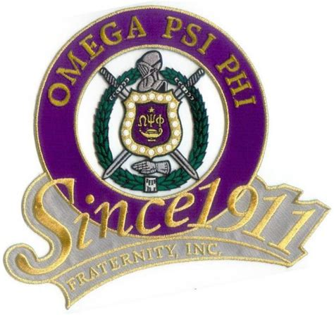 omega psi phi shield since 1911 patch