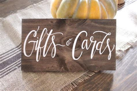 Card And Gift Table Sign - gifts cards sign cards sign rustic wooden wedding sign gift table sign wedding