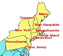 map of northeast region of united states definitions