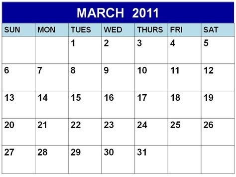 printable calendar a3 march calendar 2011 images