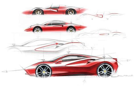 ferrari enzo sketch ferrari 488 gtb design sketch sketch illustration