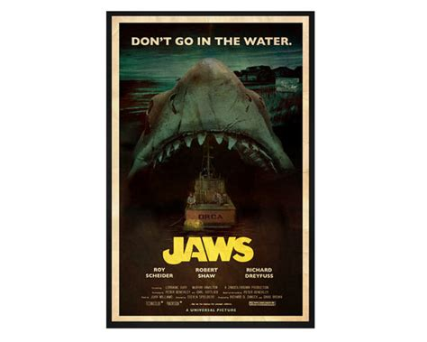Vintage Classic Bruce Poster The Way Of The 42x30cm Jaws Retro Poster Inspired By 1970s Horror