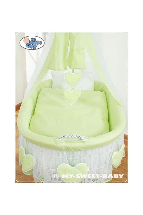culle vimini neonati culla vimini neonato cuori verde bianco