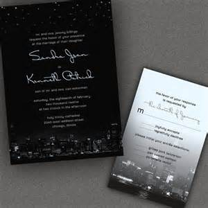 chicago city skyline wedding invitations with by alookoflove