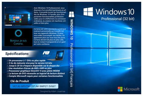 32bit 64bit Kaset Dvd Windows 10 All In One 32bit 64bit Selalu Ready windows 10 pro 32 bit francais cover dvd hd by adamjouamaa