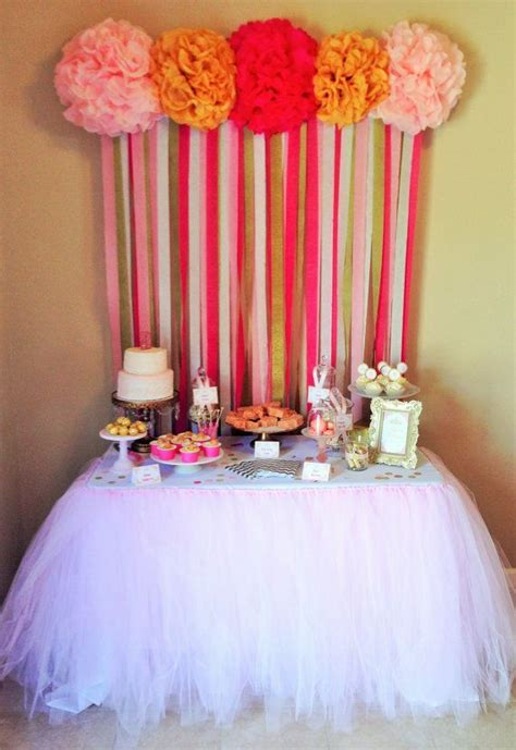 Table Tutu by Pale Pink Tutu Table Skirt Tutu Decorations Lace Ribbon And Streamers