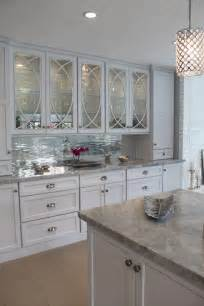 mirrored subway tile backsplash