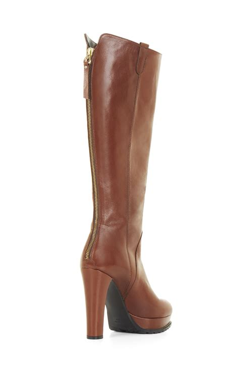 high heel leather boot kaelin high heel platform leather knee boots