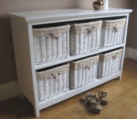 white tetbury 6 wicker rattan basket chest of drawers