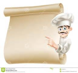 chef pointing at menu royalty free stock images image
