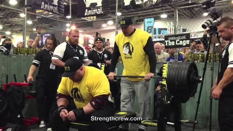 eric spoto bench eric spoto 700 lb bench animal cage 2013 arnold classic