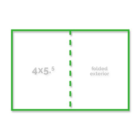 4 X 5 5 Folded Card Template by Press Templates Simply Color Lab