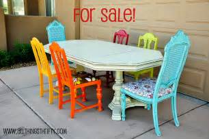 Colorful Dining Table Set Dining Room Table Transformation