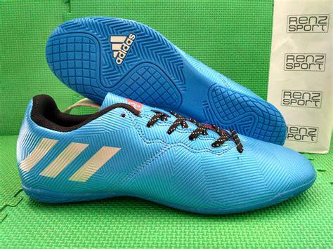 Sepatu Bola Adidas Messi jual sepatu futsal adidas messi 2017 blue cyan renz