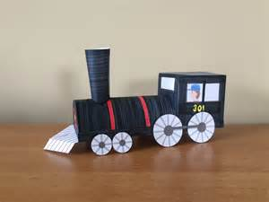 How To Make Paper Trains - 3d paper part 1 locomotive