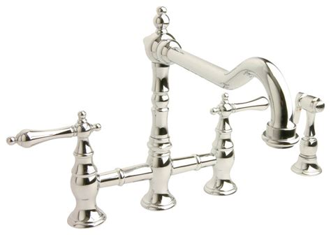 bridge style kitchen faucet giagni hudson hk101 bridge kitchen faucet with spray