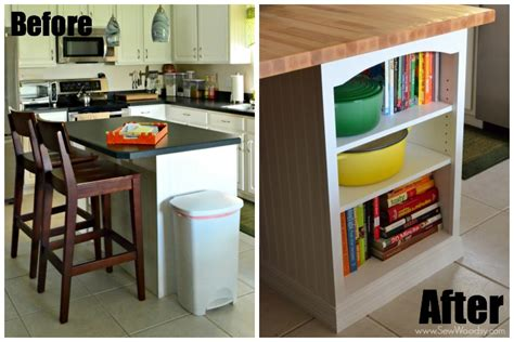 kitchen island custom bookcase sew woodsy