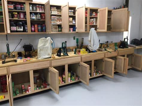reloading bench organization gun reloading room storage ideas needed