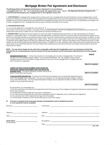 Template Standard Loan Agreement Template Mortgage Agreement Template Uk