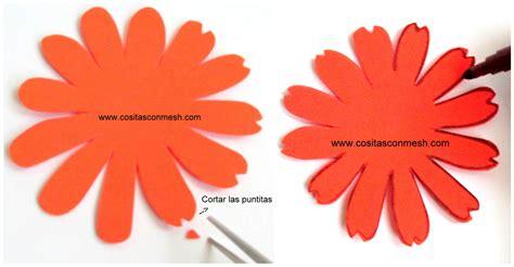 imagenes de rosas en foami c 243 mo hacer flores en goma eva paso a paso cositasconmesh