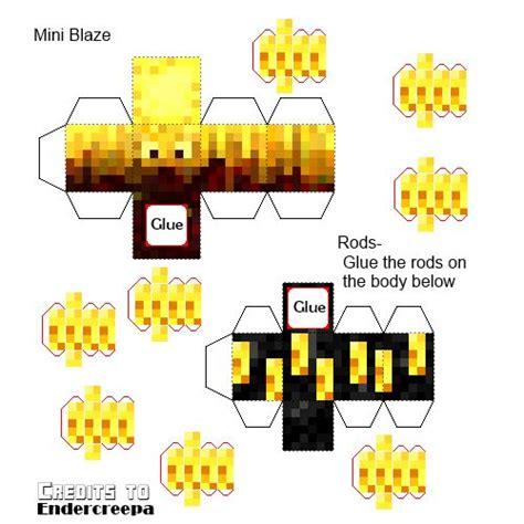 Minecraft Papercraft Blaze - papercraft the originals and originals on