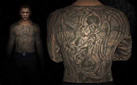 michael scofield tattoos prison michael scofield by alexfly on deviantart