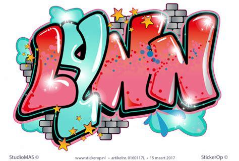 muursticker graffiti lynn