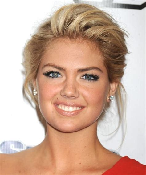 evening hairstyles and makeup kate upton straight formal updo hairstyle dark blonde