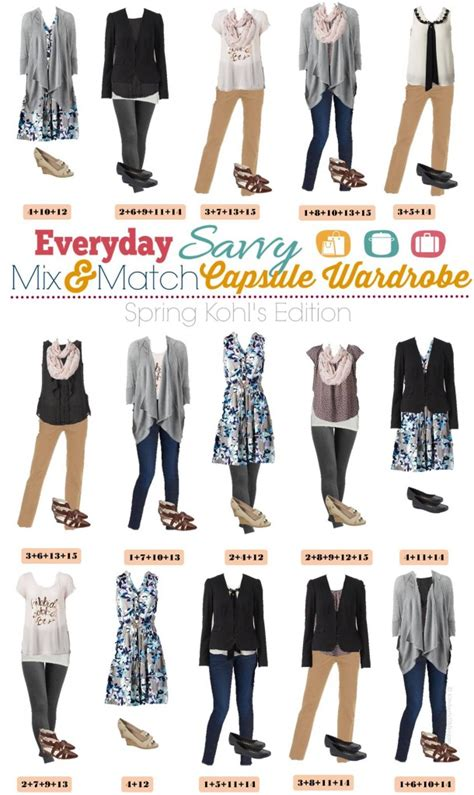 Mix And Match Work Wardrobe by Kohl S Capsule Wardrobe Mix And Match