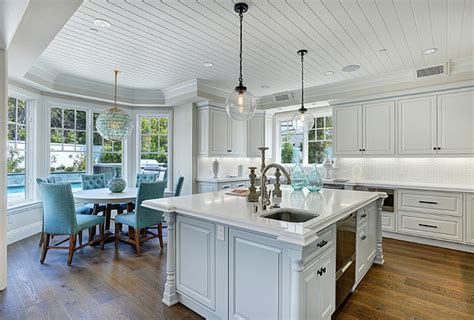 Kitchen And Nook Designs California Family Home With Transitional Coastal Interiors