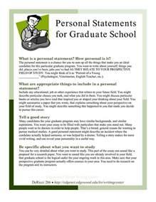 Exles Of Personal Essays For Graduate School by Sle Personal Statements Graduate School Personal Statements For Graduate School Graduate