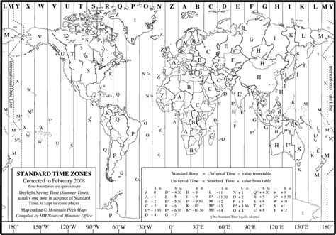 Time Zone Layout | layout of time zones search results for time zone chart