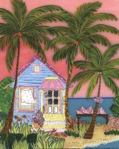 conch cottage mini 8 quot x10 quot tropical decor